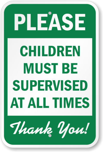 children-must-be-supervised-sign-k-0214
